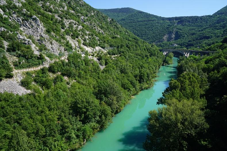 Soča river arch